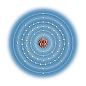 Terbium,atomic structure