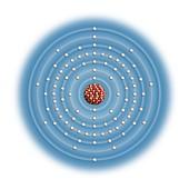 Protactinium,atomic structure
