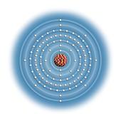 Einsteinium,atomic structure