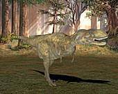 Abelisaurus dinosaur,illustration