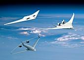 Future green aircraft,illustration
