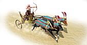 Egyptian Chariot,illustration