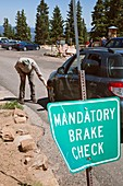 Vehicle brakes check,USA