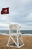 Red flag at a beach