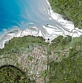 Mont Saint-Michel bay,satellite image