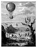English Channel balloon crossing,1785