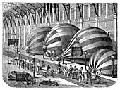 Siege of Paris balloon factory,1870s
