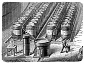 Hydrogen gas production plant,1867
