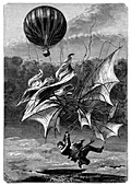 De Groof's fatal flight,1874