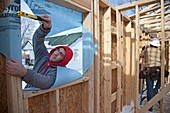 Habitat for Humanity house building,USA