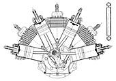 Esnault-Pelterie airplane engine,1900s