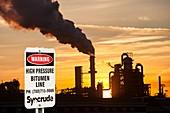 Syncrude upgrader plant