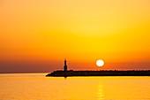 Myrina harbour,Lemnos,Greece at sunset