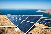 Solar power station on Lemnos,Greece