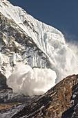 Avalanche,Annapurna Himalaya,Nepal