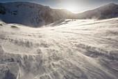 Drifting snow in Cairngorm