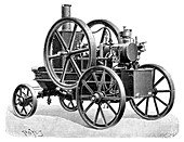Brouhot petrol engine,illustration