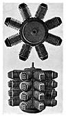 Forest 32-cylinder aviation engine,1888