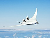 Future hybrid aircraft,illustration