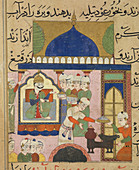 Ghiyath Shahi supervising his cooks