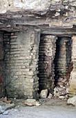 Roman hypocaust,Phaselis,Turkey
