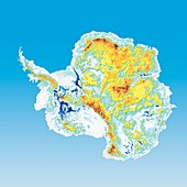 Antarctic bedrock,elevation map
