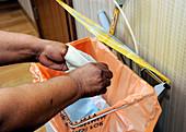 Hospital waste disposal routine