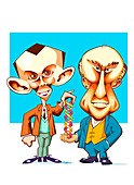Watson and Crick,discoverers of DNA