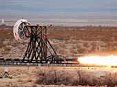 Rocket-sled test