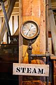 Historic flour mill steam gauge