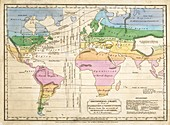 Global climate map,1820s