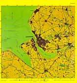 German bombing map of Liverpool,1941
