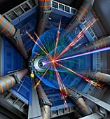 Atlas particle collision simulation