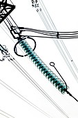 Cap and pin glass insulator string