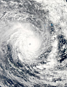 Cyclone Pam over Vanuatu,13 March 2015