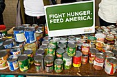 Canned goods for food banks