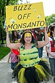 Protest against GM crops