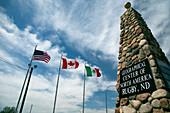 Obelisk marking centre of the US