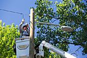 LED street light installation