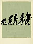 Human evolution,conceptual image