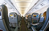 Interior of a passenger airliner