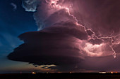 Lighting and supercell storm