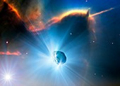 Active comet,illustration