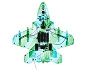 Toy fighter plane,X-ray
