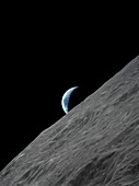 Earthrise over the Moon,illustration