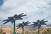 Solar panel flowers