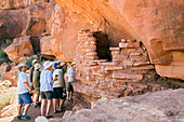 Tourists at an Anasazi grain store