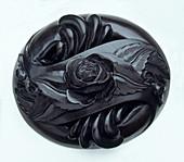 Rose carved in jet