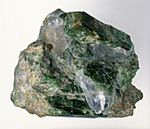 Diopside crystals in groundmass,close-up
