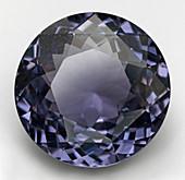 Round cut mauve Spinel gemstone